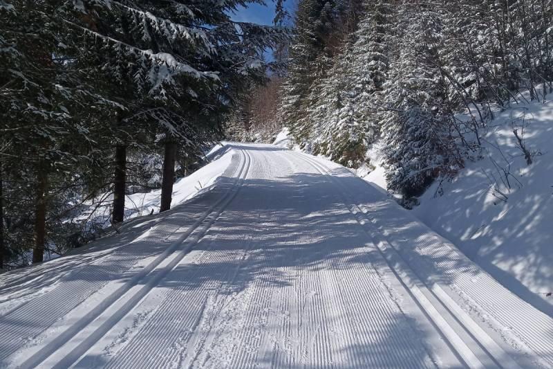 Na trasach w Obidowej leży nawet 80 cm śniegu