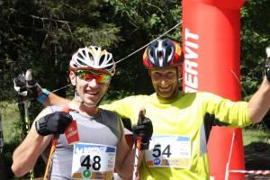 Tomasz Kałużny i Jakub Mroziński - zwycięzcy Uphillu Gór Sowich w 2017 roku techniką dowolną i klasyczną