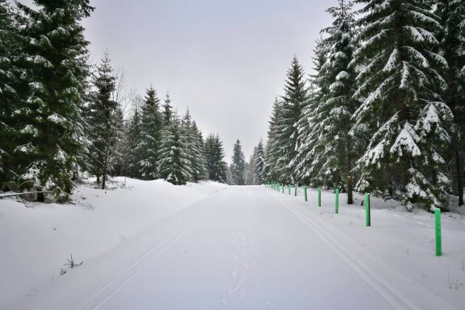 Zima wróciła do Spalonej w Górach Bystrzyckich