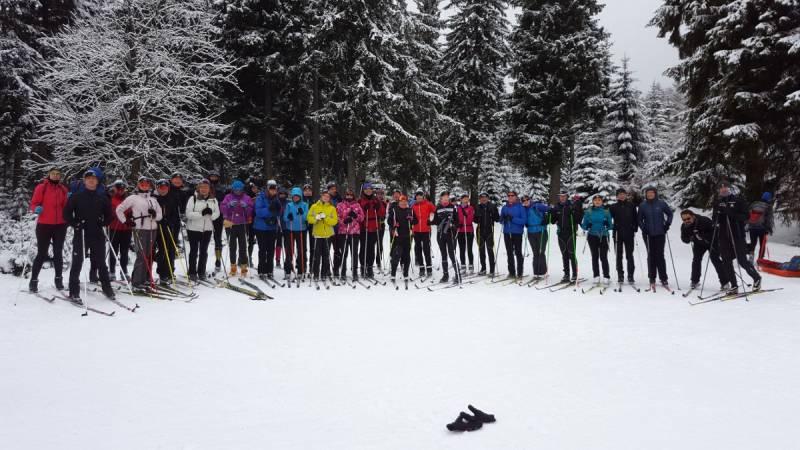 Jak witać Nowy Rok to tylko na biegówkach i w doborowym towarzystwie