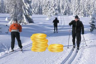Ile pieniędzy przynosi narciarz biegowy?