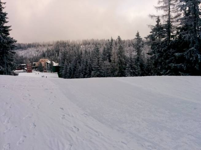 Takie warunki panowały 12 grudnia 2015 roku  w Szczyrbskim Jeziorze