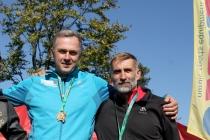 Grzesiek Legierski i Władek Olszowski na podium Przehyba Uphill