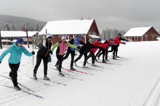 Najmłodsza uczestniczka w historii naszych kursów narciarstwa biegowego