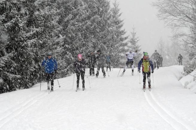 Dolny Dukt Końskiej Jamy w Górach Izerskich - zdjęcie zrobione 17.01.2015