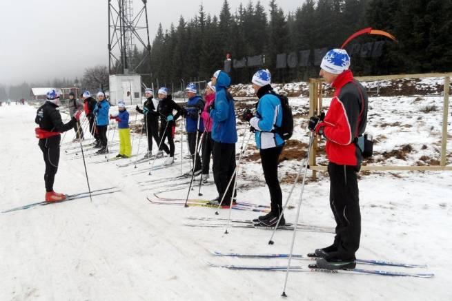 Kibicowali, a teraz szlifują własną technikę biegania na nartach