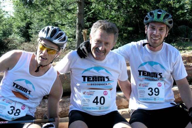 Od lewej: Alek Korzeniowski, Edek Mucha, Błażej Stelmaszyk