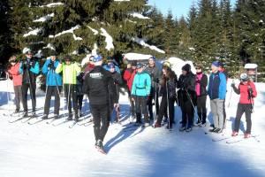 Słońce witało i żegnało uczestników kursu w przedostatni weekend stycznia