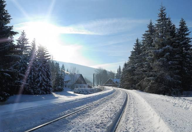 foto. Matouš Danielka, linia kolejowa w Jesioniki w Czechach