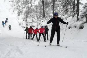 Zima sypnęła śniegiem dla uczestników weekendowego kursu na Kubalonce