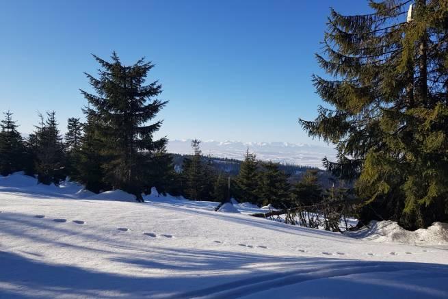 Takie widoki na Tatry tylko z trasy na Turbacz
