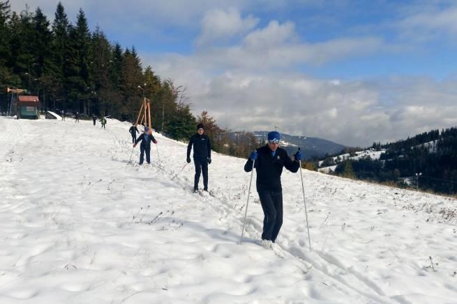 Team nabiegowkach.pl już po pierwszym treningu na śniegu