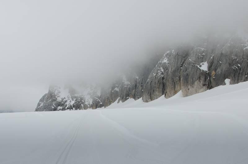Geschlossen, czyli biegówki na lodowcu po sezonie