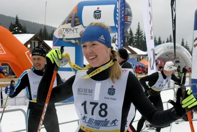 Katarzyna Witek na mecie 39. Biegu Piastów na dystansie 15 km CT