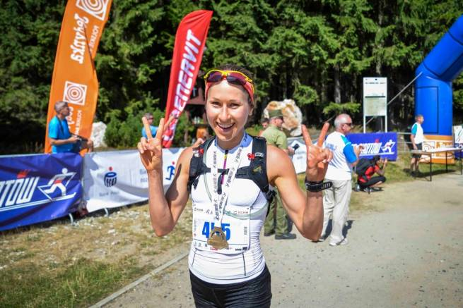Emilia Romanowicz - biegaczka narciarska - zwyciężyła w półmaratonie