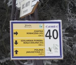 Niedaleko Białej Doliny zaczynają się trasy utrzymywane przez Bieg Piastów.