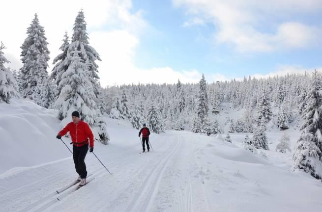 W Górach Bialskich na trasie maratonu narciarskiego Ultrabiel