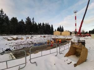 Na Polanie Jakuszyckiej w grudniu 2019 trwają prace