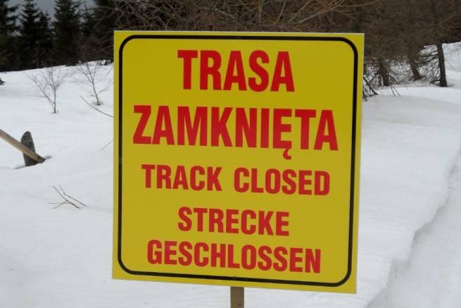 Takie tablice biegacze narciarscy będą spotykać często w sezonie 2012/13