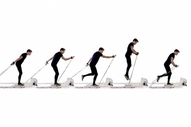 ThoraxTrainer - ergometr imitujący ruch narciarza biegowego