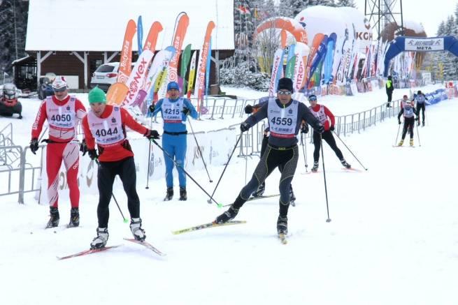 Opady śniegu pożegnały zawodników 40. Biegu Piastów