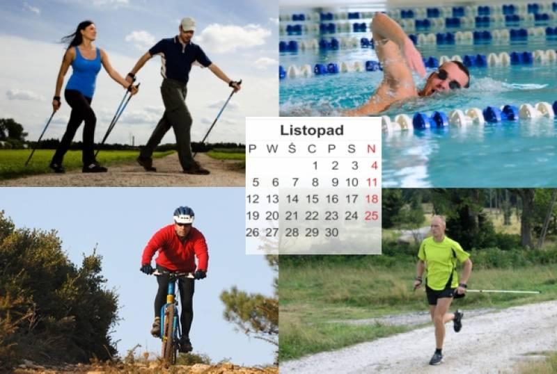 Plan treningowy - początkujący amator - 3 treningi - listopad