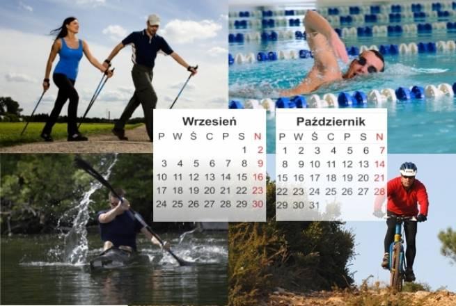 Plan treningowy - początkujący amator - 3 treningi - wrzesień, październik