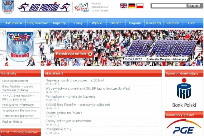 Bieg Piastów ma nową witrynę internetową