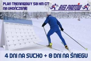 Plan treningowy do Biegu Piastów 50 km techniką klasyczną (na ukończenie) w wariancie 4 + 0