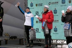 Katarzyna Witek na podium Biegu Piastów