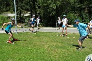 Na letnim obozie narciarza biegowego w Istebnej w 2013 roku