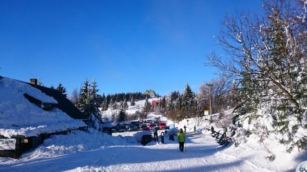 Przełęcz pod Serlichem i Masarykowa Chata