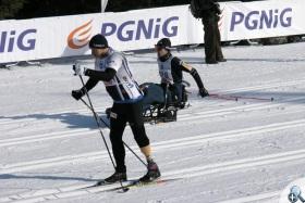 Niepełnosprawni na starcie XXXV Biegu Piastów na dystansie 50 km stylem klasycznym