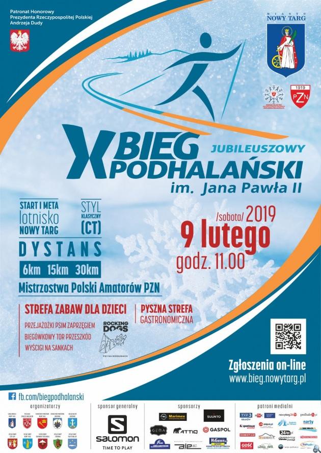 plakat Bieg Podhalanski 2019