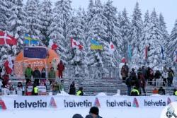 Puste trybuny podczas męskich konkurencji w sprintach w zawdoach PŚ w Szklarskiej Porębie w 2012 roku