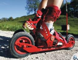 Rolki terenowe Skike V07 - przyczepiamy do zwykłych butów.