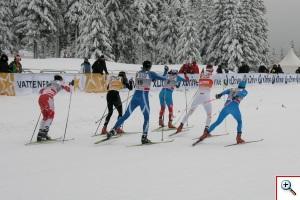Zawodnicy podczas sprintów techniką dowolną w Pucharze Świata FIS - Szklarska Poręba 2012